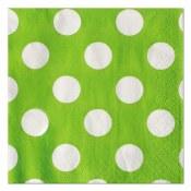 Polka Dot Bev Napkins Lime