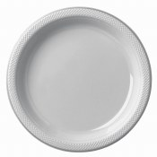 Silver Dinner Plastic Plates