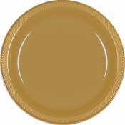 Gold Dinner Plastic Plates