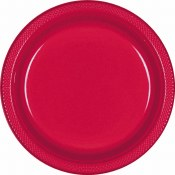 Red Dinner Plastic Plates
