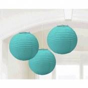 Lanterns 9.5in Robins Egg Blue