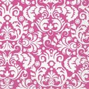 Damask Beverage Napkins Pink