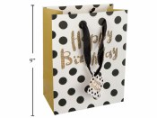 Birthday Gold Dot Gift Bag
