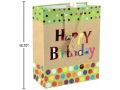 Birthday Kraft Gift Bag