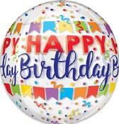 Birthday Banner Orbtz Balloon