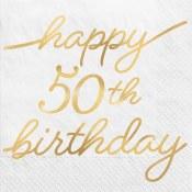 50th Golden Beverage Napkins