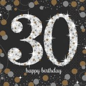 30th Sparkling Bev Napkins