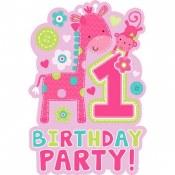 1st Birthday Wild Invites