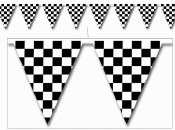 Check Flag Pennant Banner