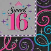Sweet 16th Beverage Napkins