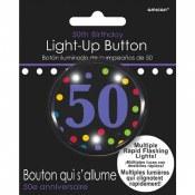50th Flashing Pin