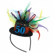 50th Fascinator Headband