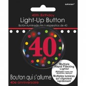 40th Flashing Button