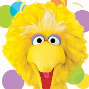 Sesame Big Bird Lunch Napkins
