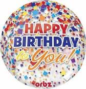 Birthday Orbz Balloon