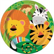 Jungle Animal Lunch Plates
