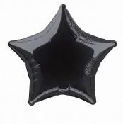 Star Foil Balloon Black