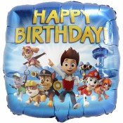 Paw Patrol Bday Foil Balloon