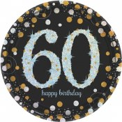 60th Sparkling Lunch Plates