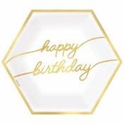 Golden Birthday Hexagon Plates