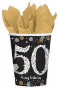 50th Sparkling Paper Cups