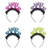 New Year Neon Headbands 4ct
