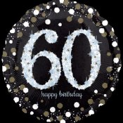 60th Sparkling Foil Balloon