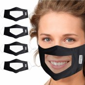 Clear Mask With Fabric Coverag