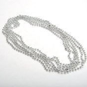 Metallic Beads Silver
