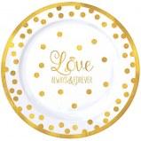 Love Dessert Plastic Plates