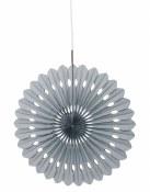 Paper Fan Decor 16in Silver