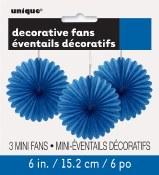 Paper 6in Fan Decor Royal