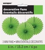 Paper 6in Fan Decor Lime