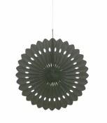 Paper Fan Decor 16in Black