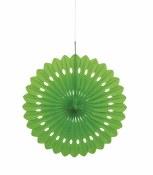 Paper Fan Decor 16in Lime