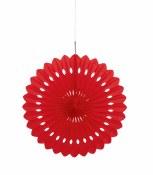 Paper Fan Decor 16in Red