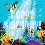 Ocean Birthday Lunch Napkins