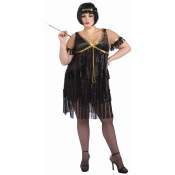 Flapper Dress Black Plus