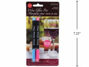 Wine Glass Pen Blue & Pink