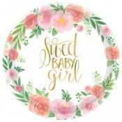 Floral Baby Dessert Plates