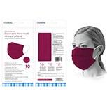 Masks Burgandy Disposable 10ct