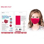 Masks Disposable Red Kids 10ct