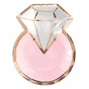 Diamond Ring Shape Plates