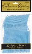 Pastel Blue Plastic Forks