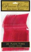 Red Plastic Forks