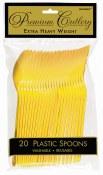 Yellow Plastic Spoons