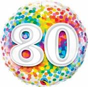 80th Dot Foil Balloon