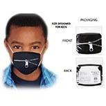 Masks Fabric Zipper Kids
