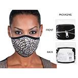 Mask Fabric Black Leopard