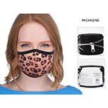 Mask Fabric Pink Leopard